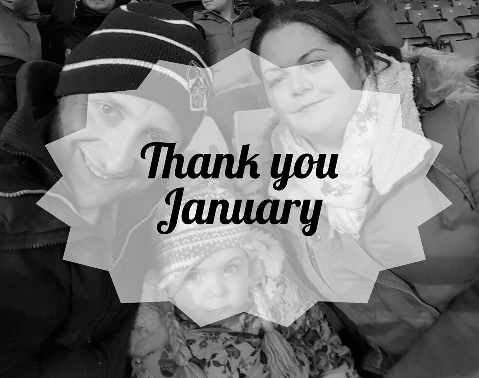 Gratitude Post #1 - Thank you January