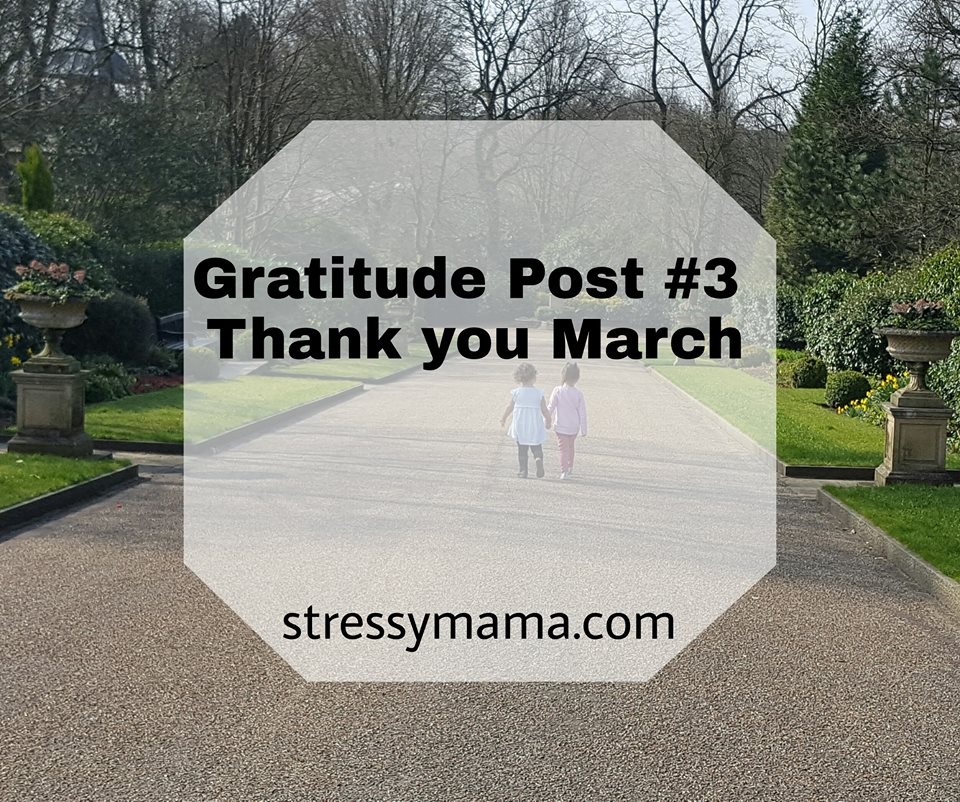 Gratitude Post #3 - Thank you March
